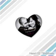 Heart 02 - Fridge Magnet (78 x 95 mm)