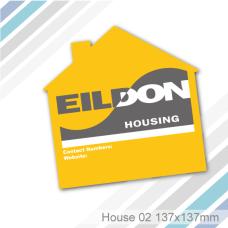 House 02 - Fridge Magnet (137 x 137 mm)